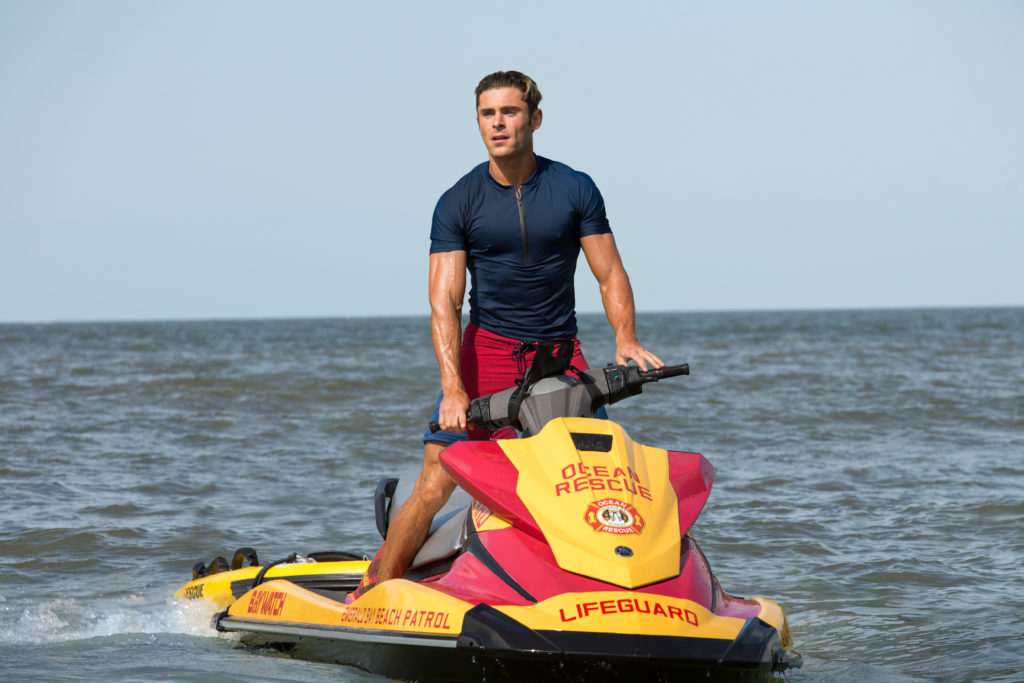 Zac Efron as Matt Brody in the film BAYWATCH by Paramount Pictures, Montecito Picture Company, FlynnPicture Co., and Fremantle Productions